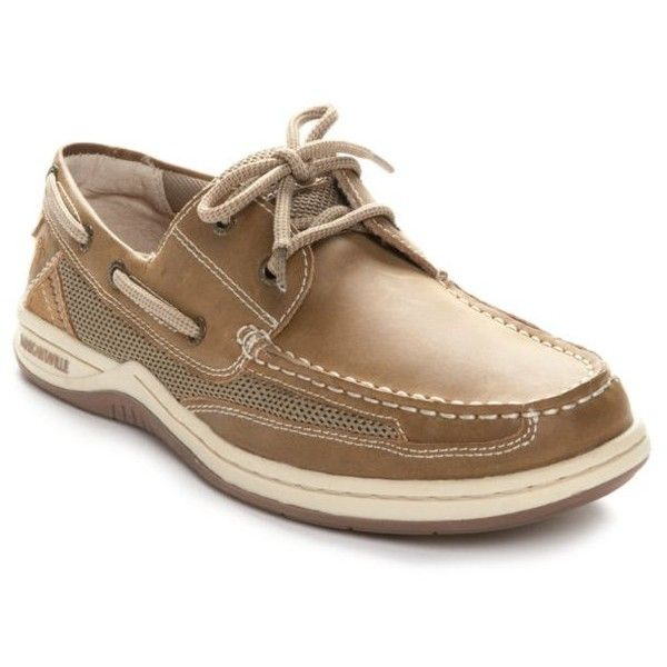Margaritaville Light Brown Anchor Boat Shoe ($60) ❤ liked on Polyvore featuring men's fashion, men's shoes, men's loafers, light brown, mens boat shoes, mens deck shoes, light brown mens dress shoes and sperry top sider mens shoes
