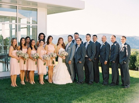 Groom And Groomsmen In Diffe Colors Of Grey Wedding Charcoal Darker Gray Mens Wearhouse Suits Tux 27091