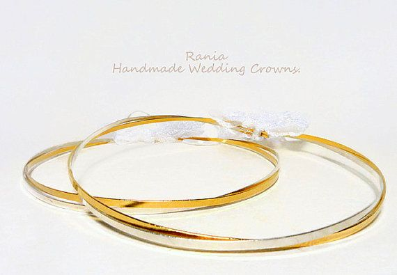Wedding Crowns.Stefana/ Orthodox Crowns.Silver by RaniaCreations