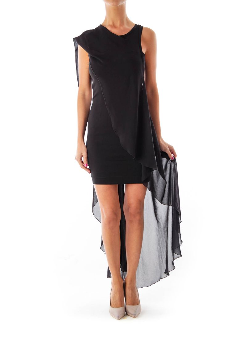 Like this Bebe dress? Shop this without using money! Trade. Shop. Discover. #fashionexchange #prelovedfashion  Black Mini Mullet Dress by Bebe