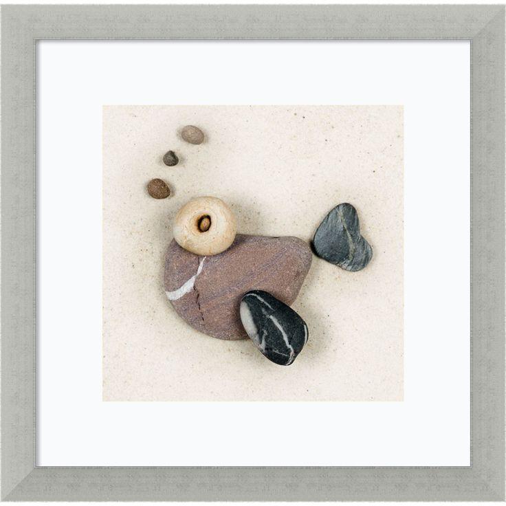 Framed Art Print 'Stonefish I' by Ian Winstanley 13 x 13-inch