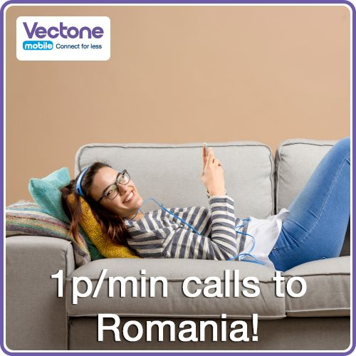 Got friends and family in Romania? Enjoy longer conversations with our cheap international rates to Romania.  For more details: http://www.vectonemobile.co.uk/cheap-calls/romania.aspx