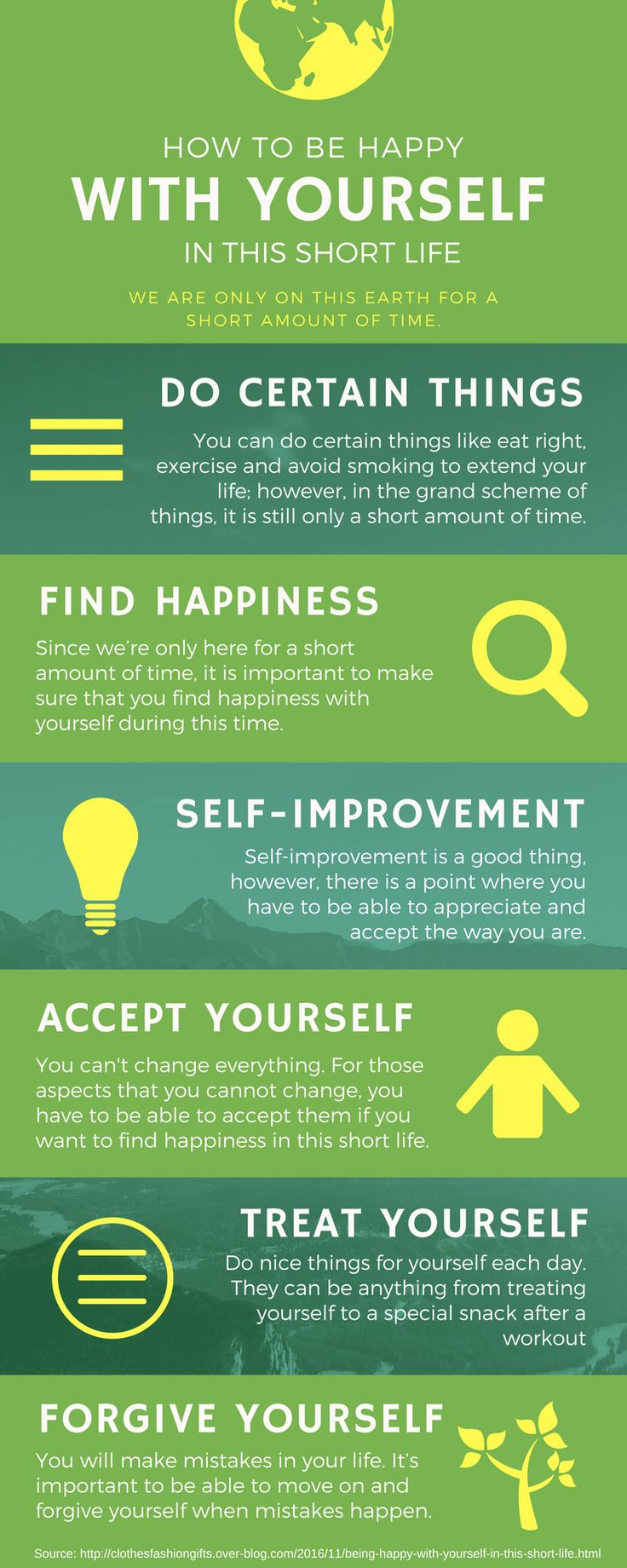 How To Be Happy With Yourself In This Short Life  We Are Only On This