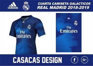 Casacas Design  CUARTA CAMISETA REAL MADRID GALÁCTICOS 2019 VECTOR ... 6d4f89f47a885