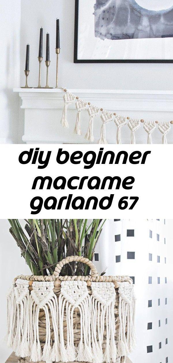 Diy Beginner Macrame Garland 67 Store Decor Macrame Garland Diy Garland