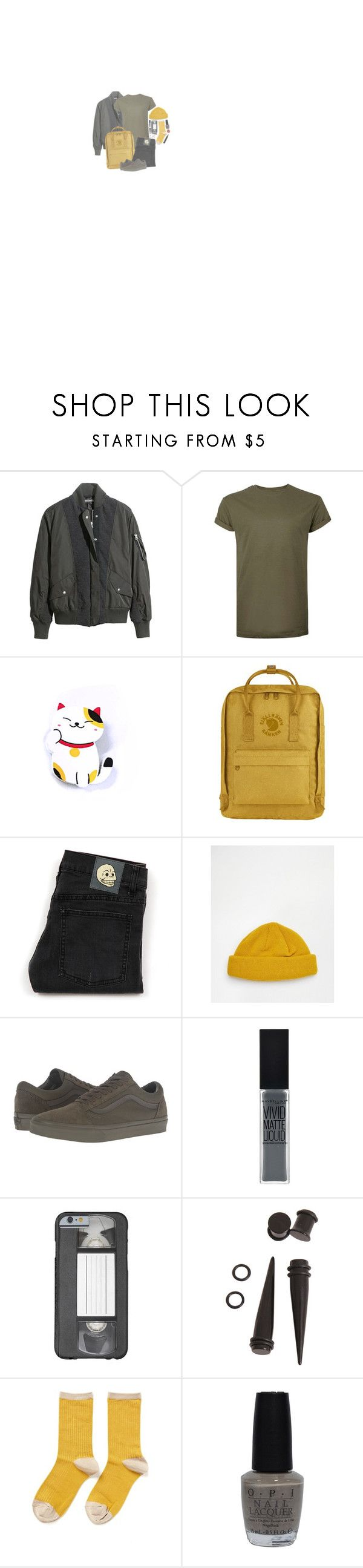 """""""I'm A Mess Right Now"""" by irondeficient ❤ liked on Polyvore featuring H&M, Topman, Fjällräven, Cheap Monday, ASOS, Vans, Hansel from Basel and OPI"""