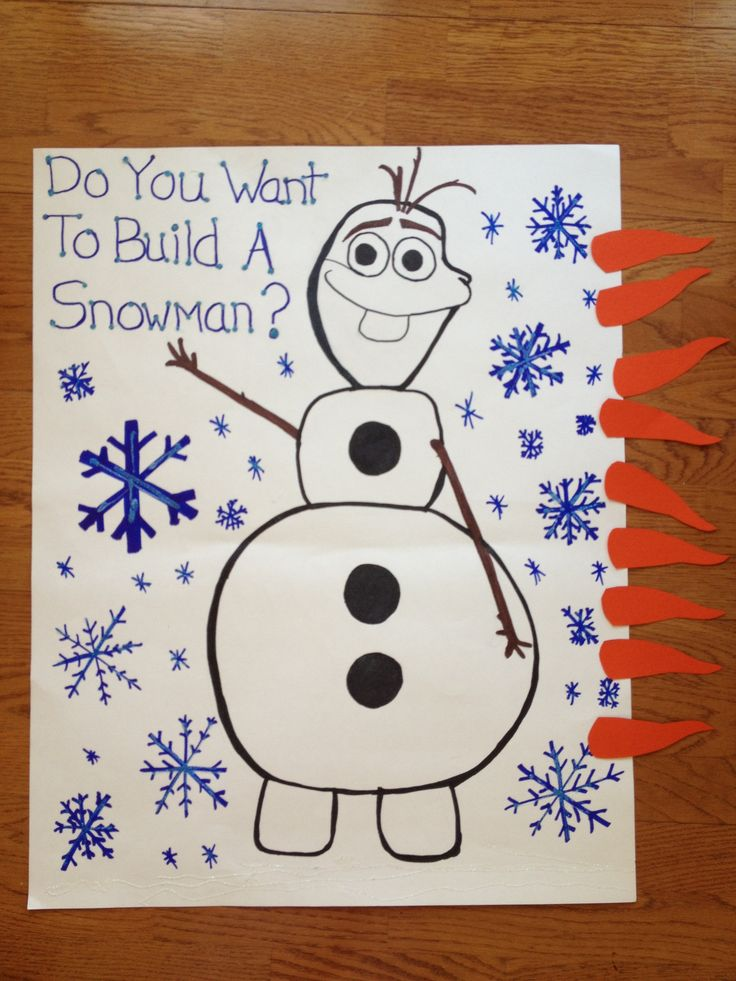 Disney Frozen Birthday Party ideas. Pin the nose on Olaf