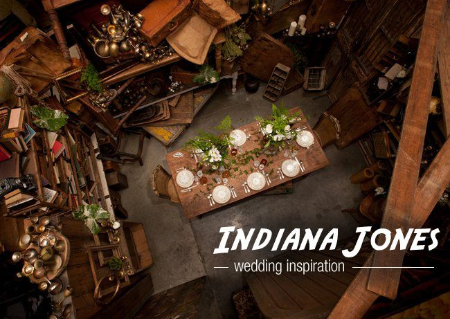 I can't pin this fast enough!!  You have to check out the whole shoot -SO cool.  Indiana Jones inspired wedding.  Woah.