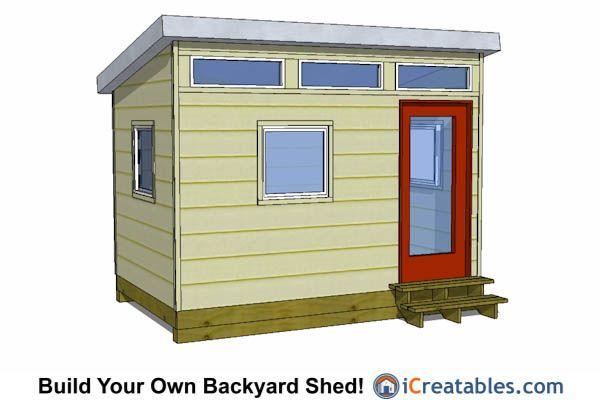 23 best 8x12 shed plans images on pinterest for Studio shed plans