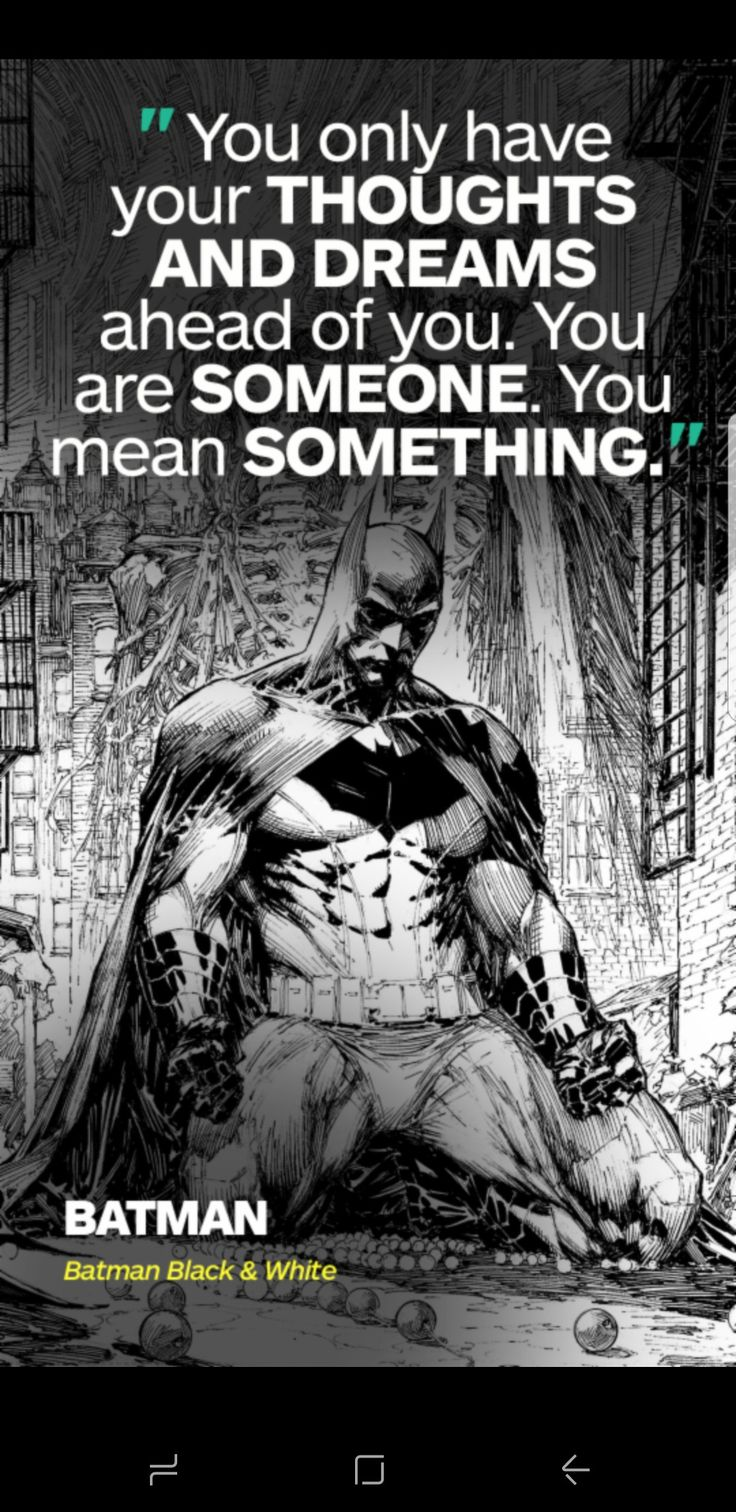 Batman comic book black and white