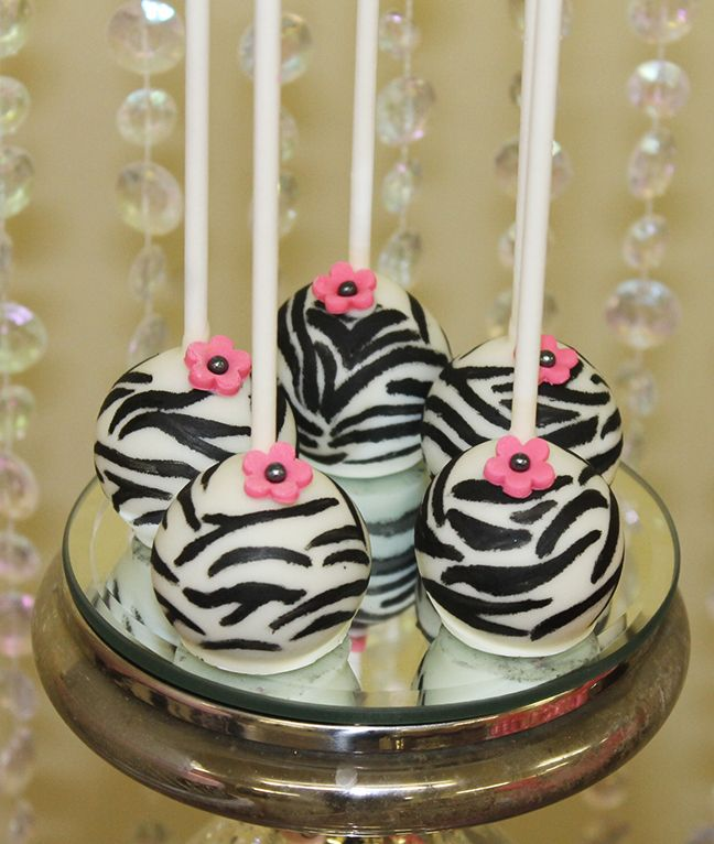 black and white cake pops   Guests enjoyed a various selection of sweets, such as cake pops, cake ...