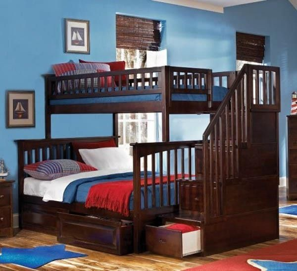 Super design for bunk beds! Of course I would do it for the kids!.
