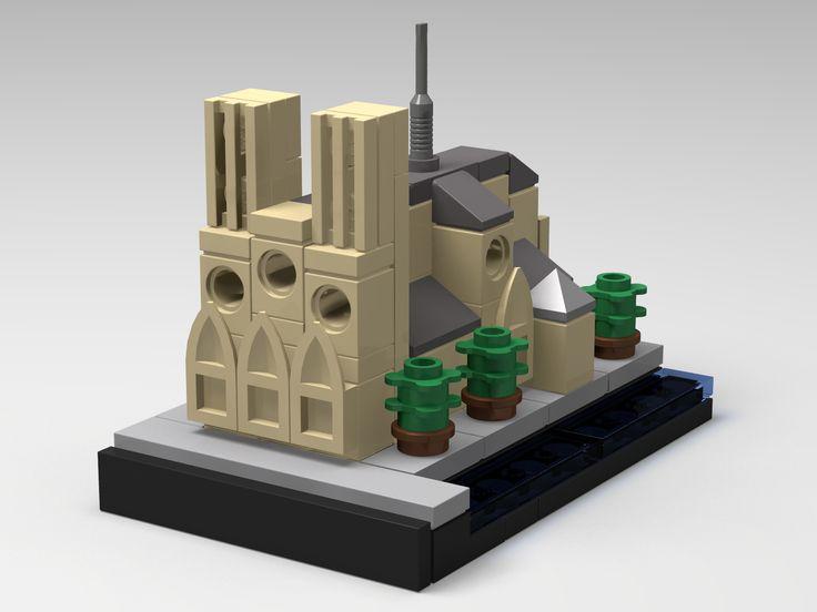 LEGO Architecture Paris Notre Dame de Paris PDF instructions custom mini MOC | eBay