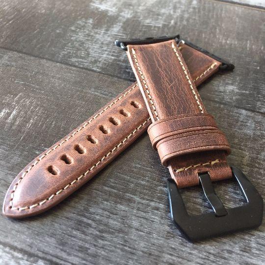 Marzi Poco Premium Quality French Leather Watch Strap for Apple Watch  Series 1 & 2 (