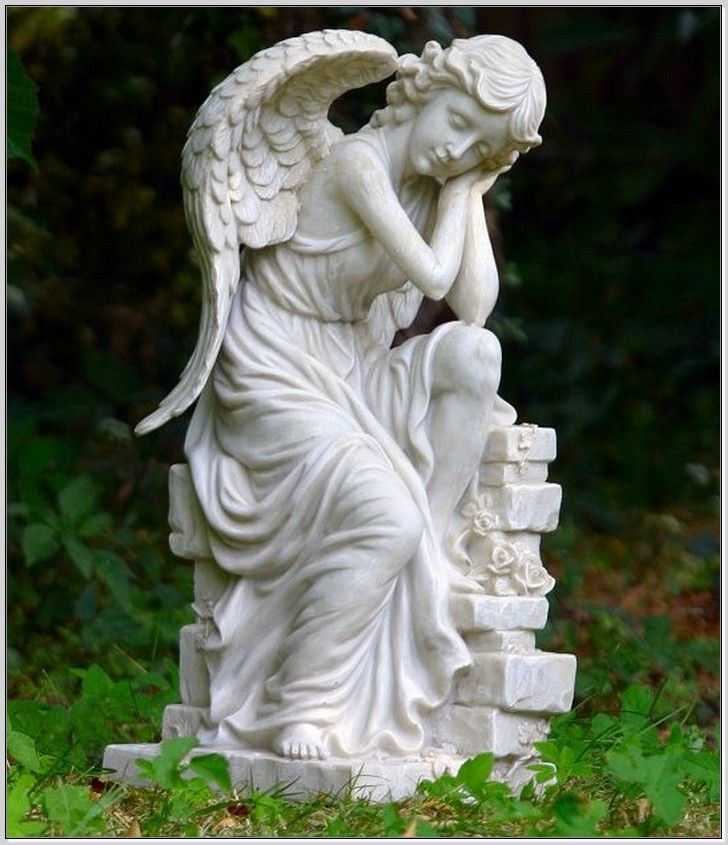 143 best angelic statues images on pinterest angel statues cemetery and sculptures - Angel statue for garden ...