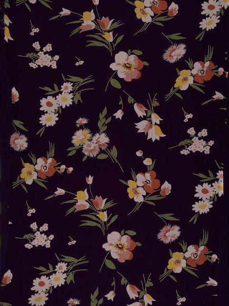 Calico Printers' Association 1933 Great Britain, UK. Dress fabric of printed chiffon. *vintage leavers*