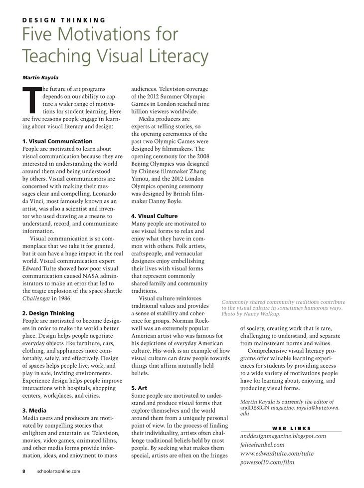 Collaborative Teaching Lesson Plans : Visual literacy worksheets grade three sample lesson