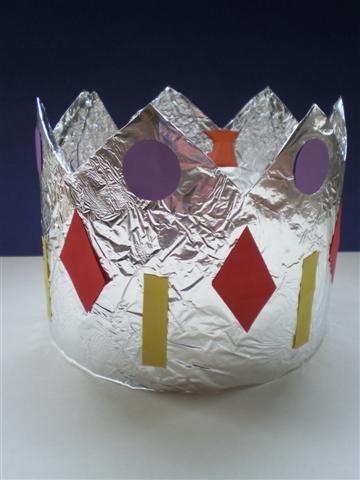 Kroon knutselen voor Driekoningen