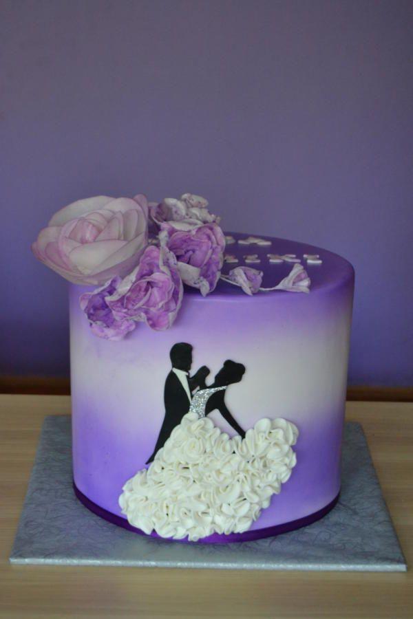 Purple wedding cake by Zaklina