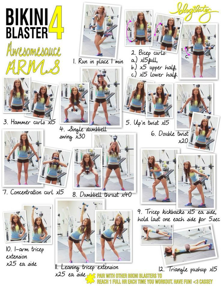 Bikini Blaster 4 Awesomesauce Arms Printable - Blogilates: Fitness, Food, and lots of Pilates