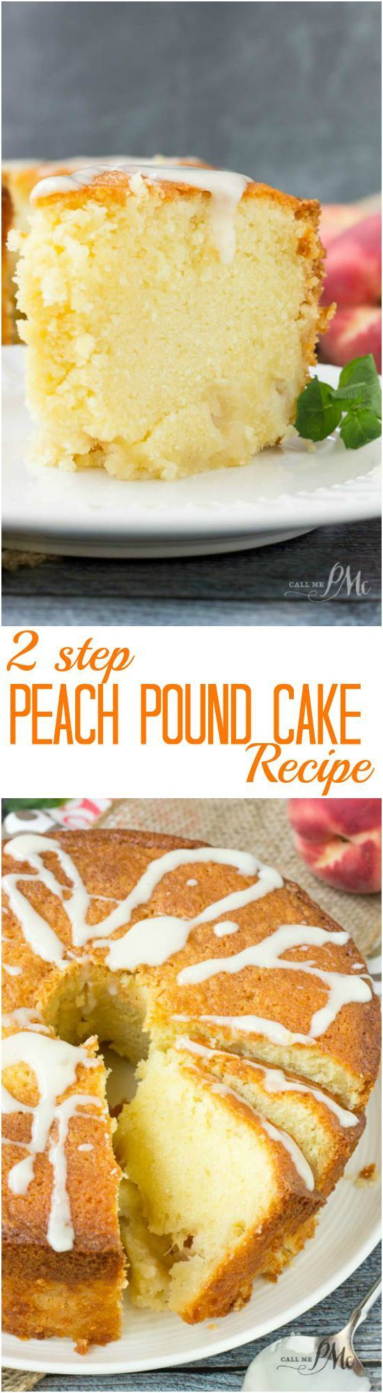 2 Step Peach Pound Cake Recipe #dan330 http://livedan330.com/2015/08/02/two-step-fresh-peach-pound-cake/