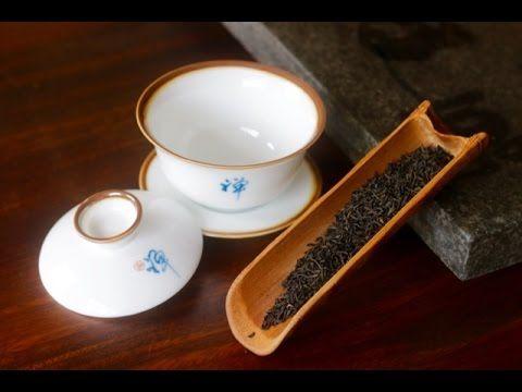 Keemun Tea from Anhui China - Using a Gaiwan - Chinese Tea Cup