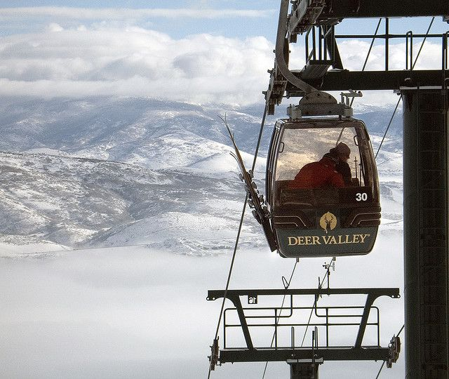 Deer Valley. A little bit of skiing and a free ride from Ski Patrol.