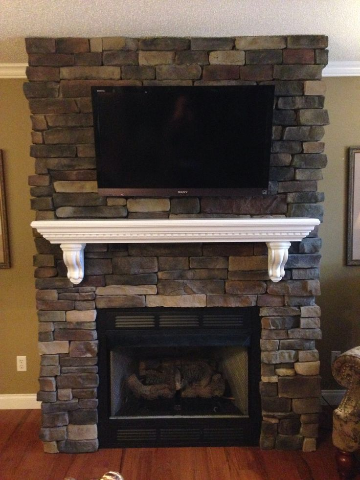 Fireplaces Mantels Ideas Tennessee Ledgestone Drystacked With White Dentin Mantel