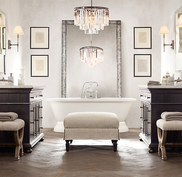 Model Restoration Hardware Bathroom  Bathroom Dreams  Pinterest
