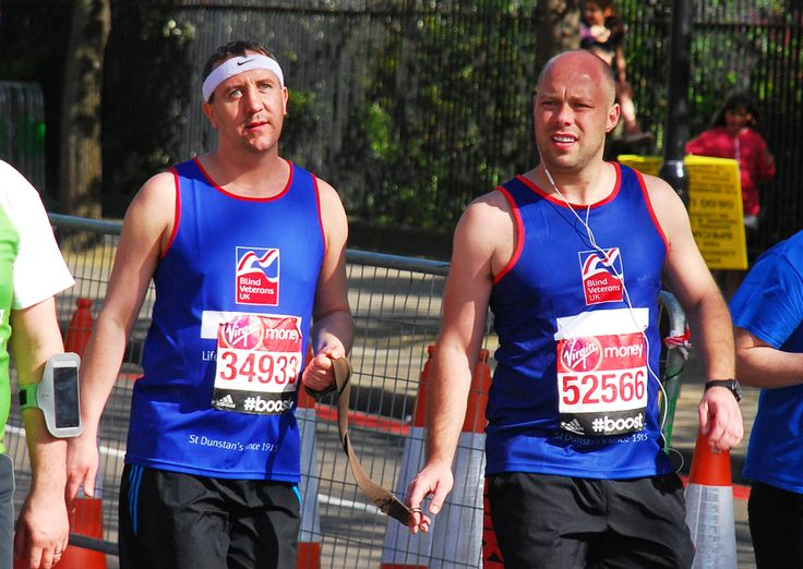 Congratulations to blind veteran Joe Cousineau and his sighted guide for their fantastic efforts in the London Marathon! Thank you to all of you for your amazing support and a big thank you to our volunteers who came down to cheer on the runners! Support every step of the way. #LondonMarathon Image credited to Ian Dunn Design