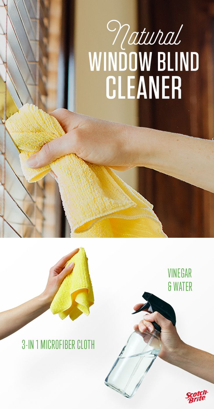 Looking for a quick and easy way to clean your metal, vinyl or wood blinds? Make your own solution for cleaning window blinds in just 3 easy steps and with ingredients you already have in your kitchen.