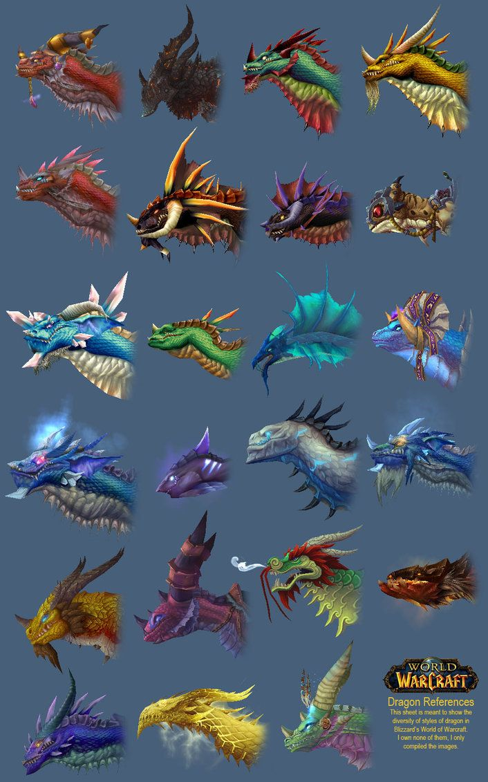 World of Warcraft Dragon Styles Some of the best World of Warcraft pics