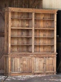 #ParkHillCollection Pine #Library constructed of #reclaimedpine