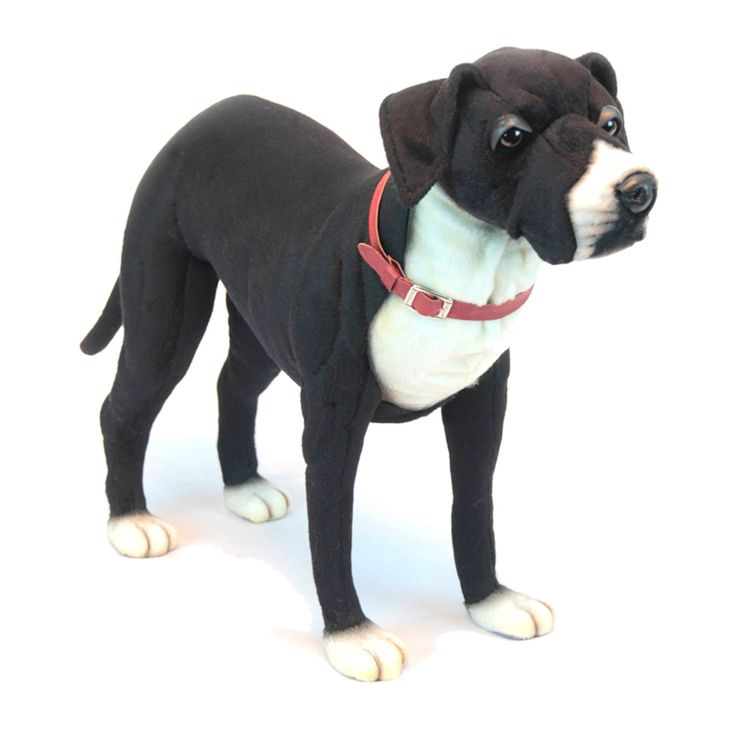 Hansa 25 Inch Plush and White Great Dane