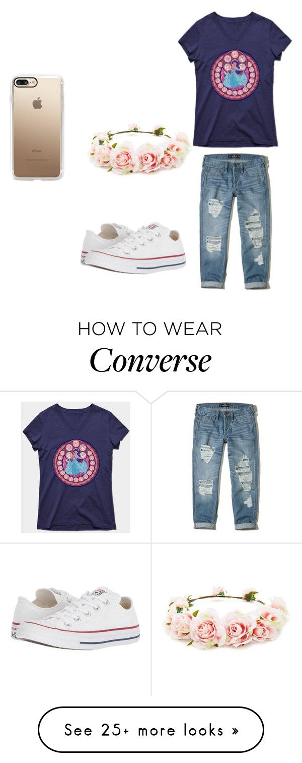 """Untitled #122"" by jasminema on Polyvore featuring Disney, Hollister Co., Converse, Forever 21 and Casetify"
