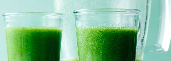 Smoothie with green tea