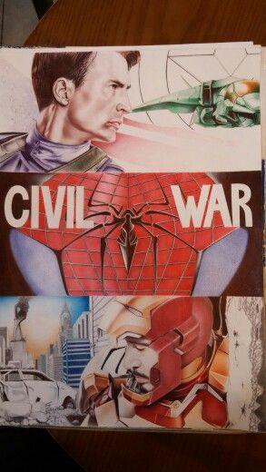 Captain America : civil war... ballpoint pen art  캡틴아메리카:시빌워 볼펜화 팬아트 입니다^^  원본 사진이 깨져서 나오네요