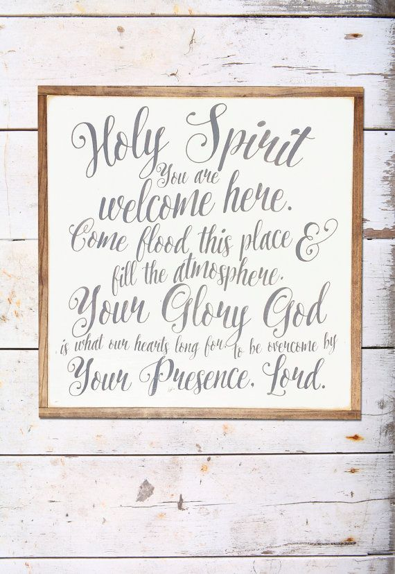 holy spirit sign | holy spirit you are welcome here | scripture sign | verse sign |