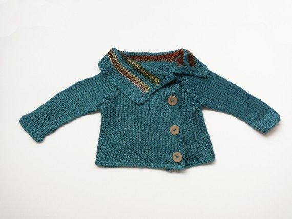Handsome unisex baby sweater by evahandmade on Etsy