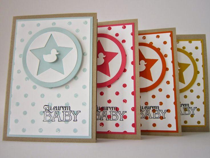 Mein Wolkenzucker #stampinup #memorybox #baby #karte #card