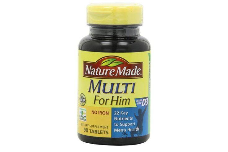 Nature Made Multi for Him http://www.menshealth.com/health/best-multivitamins-for-men/slide/2