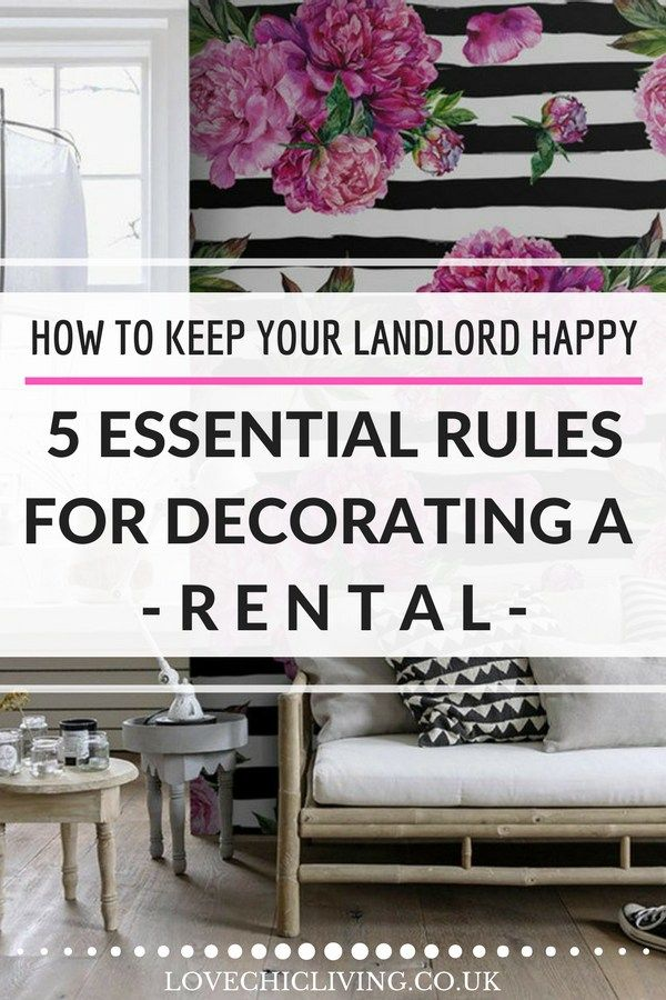 Rented Homes: The 5 Rules you MUST Follow to Keep your Landlord Happy