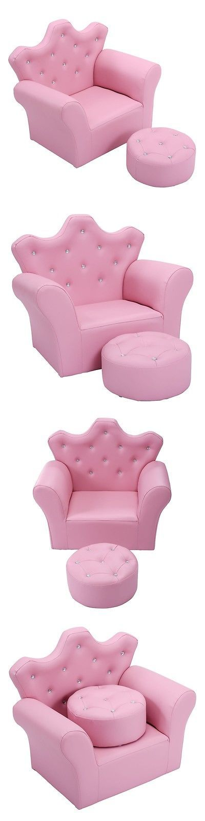 Sofas and Armchairs 134648: Pink Kids Sofa Armrest Chair Couch Children Toddler Birthday Gift W Ottoman Us -> BUY IT NOW ONLY: $79.99 on eBay!