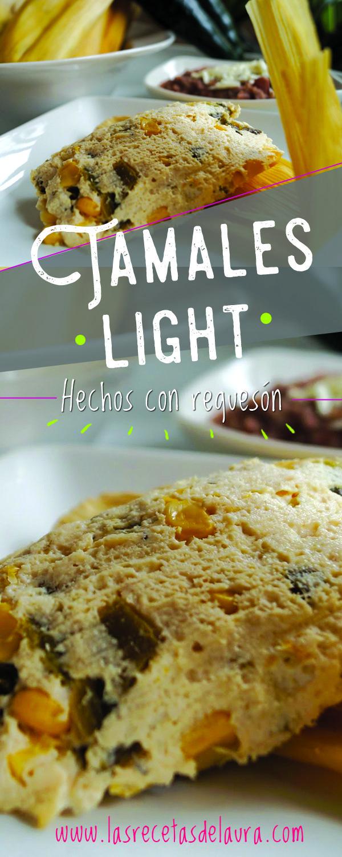 Deliciosa receta de tamales saludables hechos con requesón o queso ricotta, rajas y elote