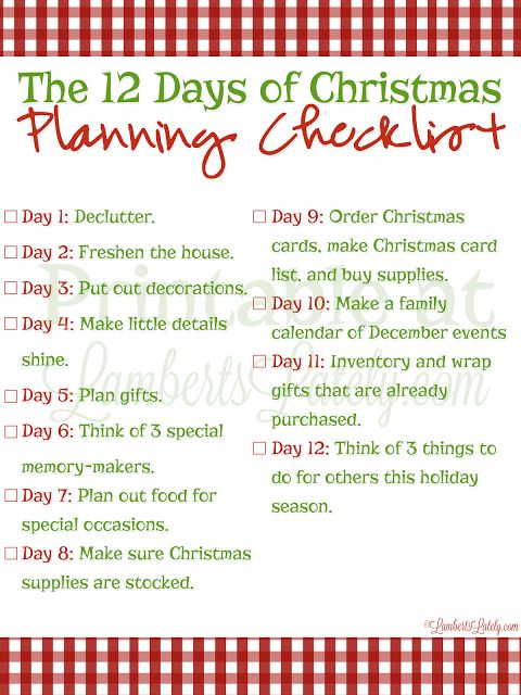 The 25+ best Christmas checklist ideas on Pinterest Holiday - christmas preparation checklist