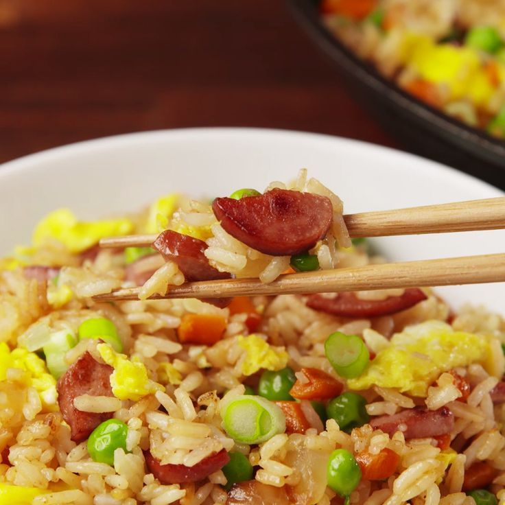Hot Dog Fried Rice. It's better than it sounds.