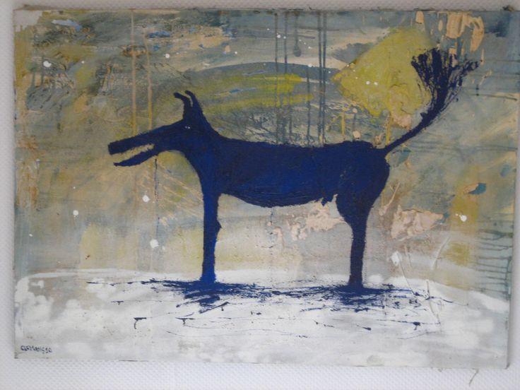 Dog (120*90cm, 1990, sold)