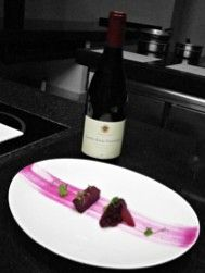 3rd Course Beet Tartare Hartford Family Winery Court Land's Edge Gala Dinner #ExperienceCDNbeef
