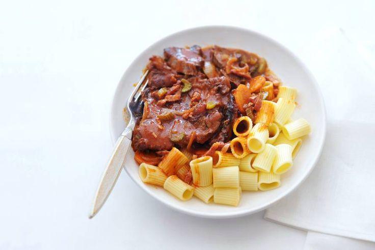 Kijk wat een lekker recept ik heb gevonden op Allerhande! Italiaans draadjesvlees