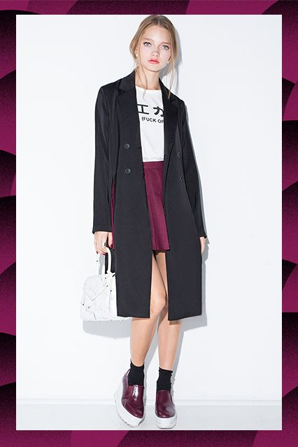 50 Winter Coats For Every Budget #refinery29  http://www.refinery29.com/winter-coats-for-every-budget#slide-7  Under $100Bonus points for the extra-high side slits.Pixie Market Chic Black Long Blazer Jacket, $72, available at Pixie Market....
